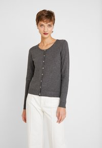 Culture - ANNEMARIE CARDIGAN - Vest - dark grey melange - 0