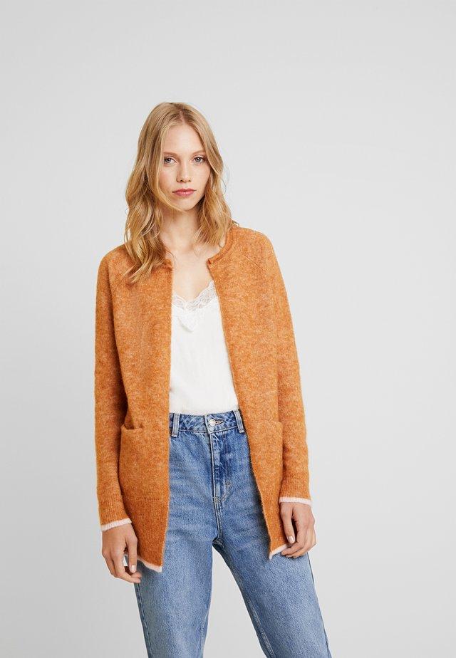 Cardigan - leather brown
