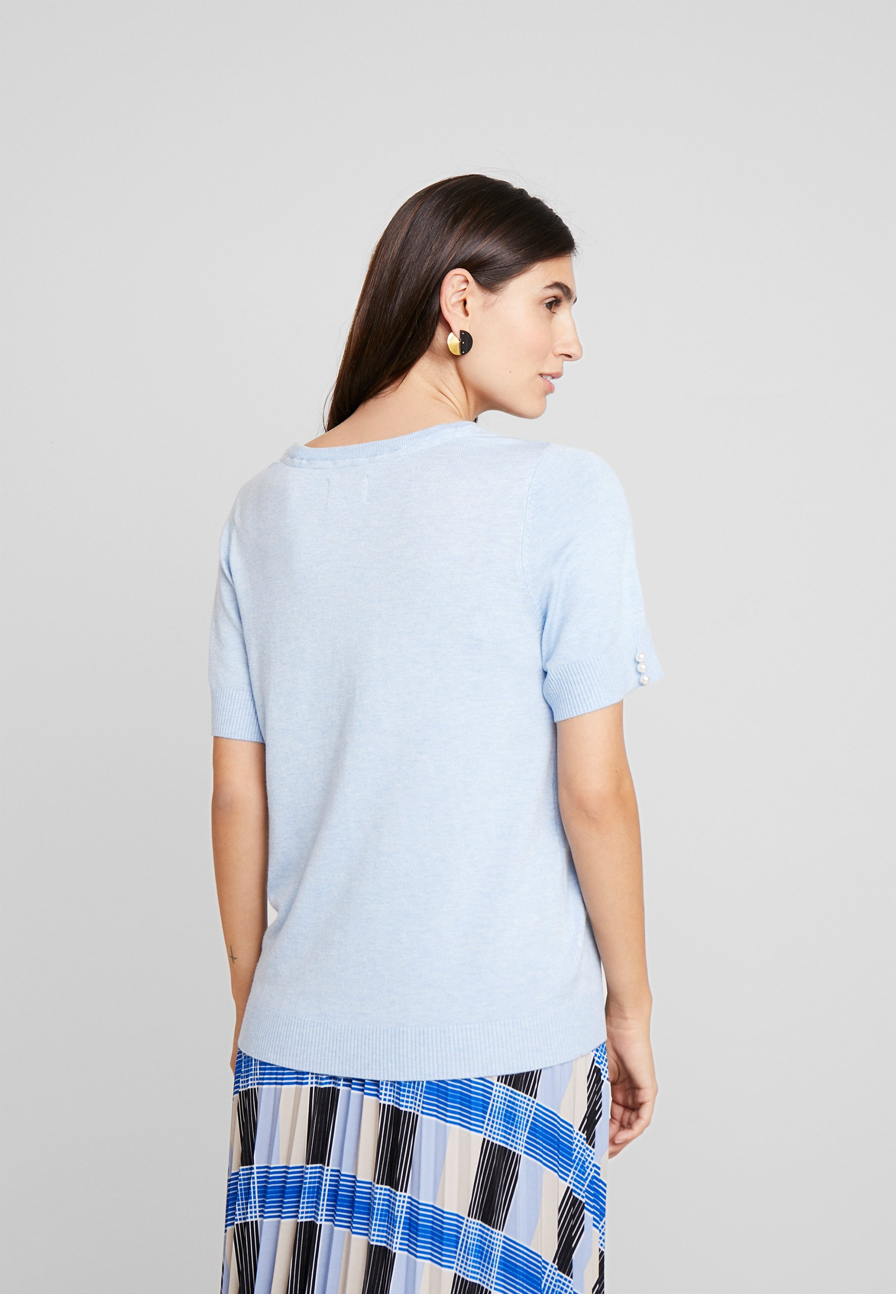 Culture CUANNEMARIE - T-shirt z nadrukiem - cashmere blue melange