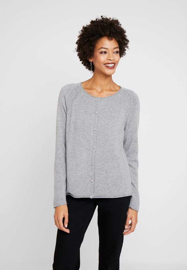 CUALAIA - Strickjacke - light grey melange