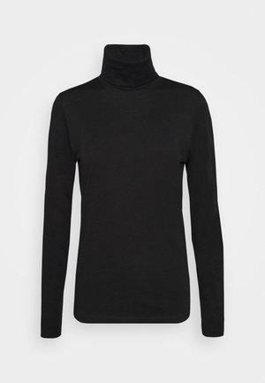 ROLLNECK - Langærmede T-shirts - black