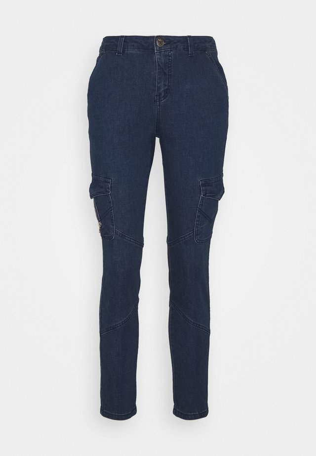 CUAMPEL PANTS - Džíny Slim Fit - blue wash