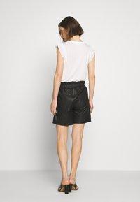 Culture - ALINA - Kožené kalhoty - black - 2