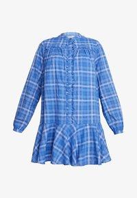 Custommade - NALINI - Skjortekjole - blue yonder - 4