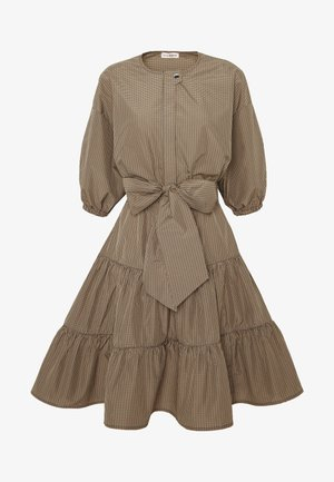 NINI CHECKS DRESS - Shirt dress - cement
