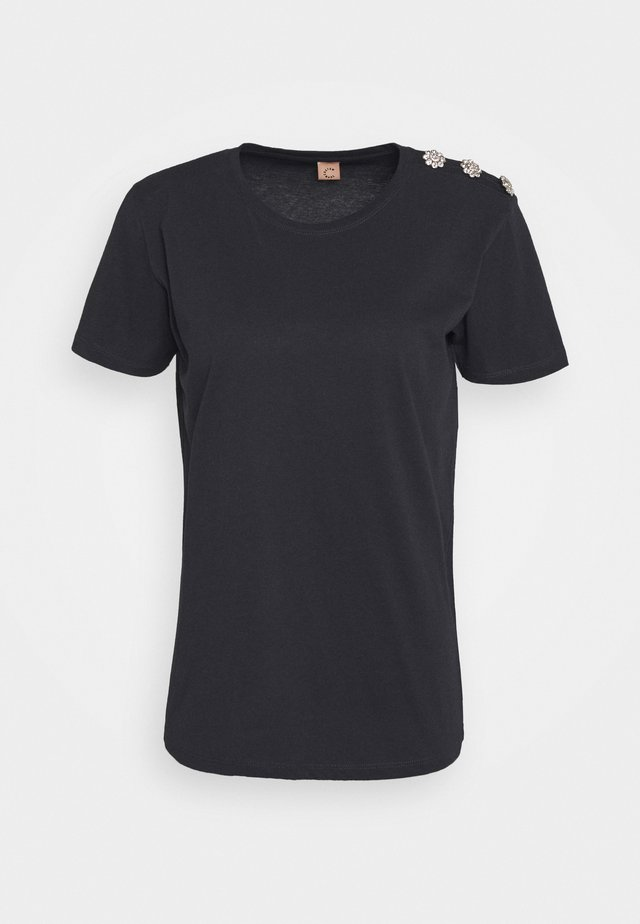 MOLLY CRYSTAL - T-shirt con stampa - anthracite black