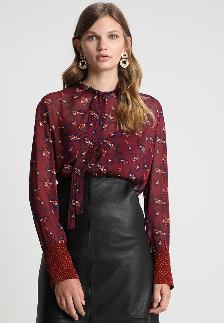 Custommade - CHRISTELLE - Button-down blouse - tawny port