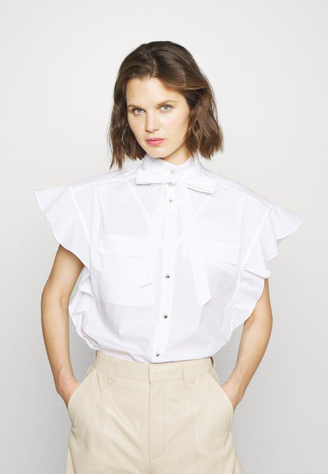 LINORA - Button-down blouse - white