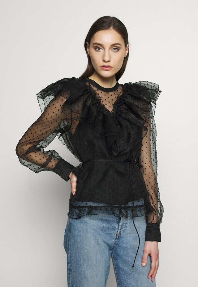 VIOLET BLOUSE - Bluzka - anthracite black