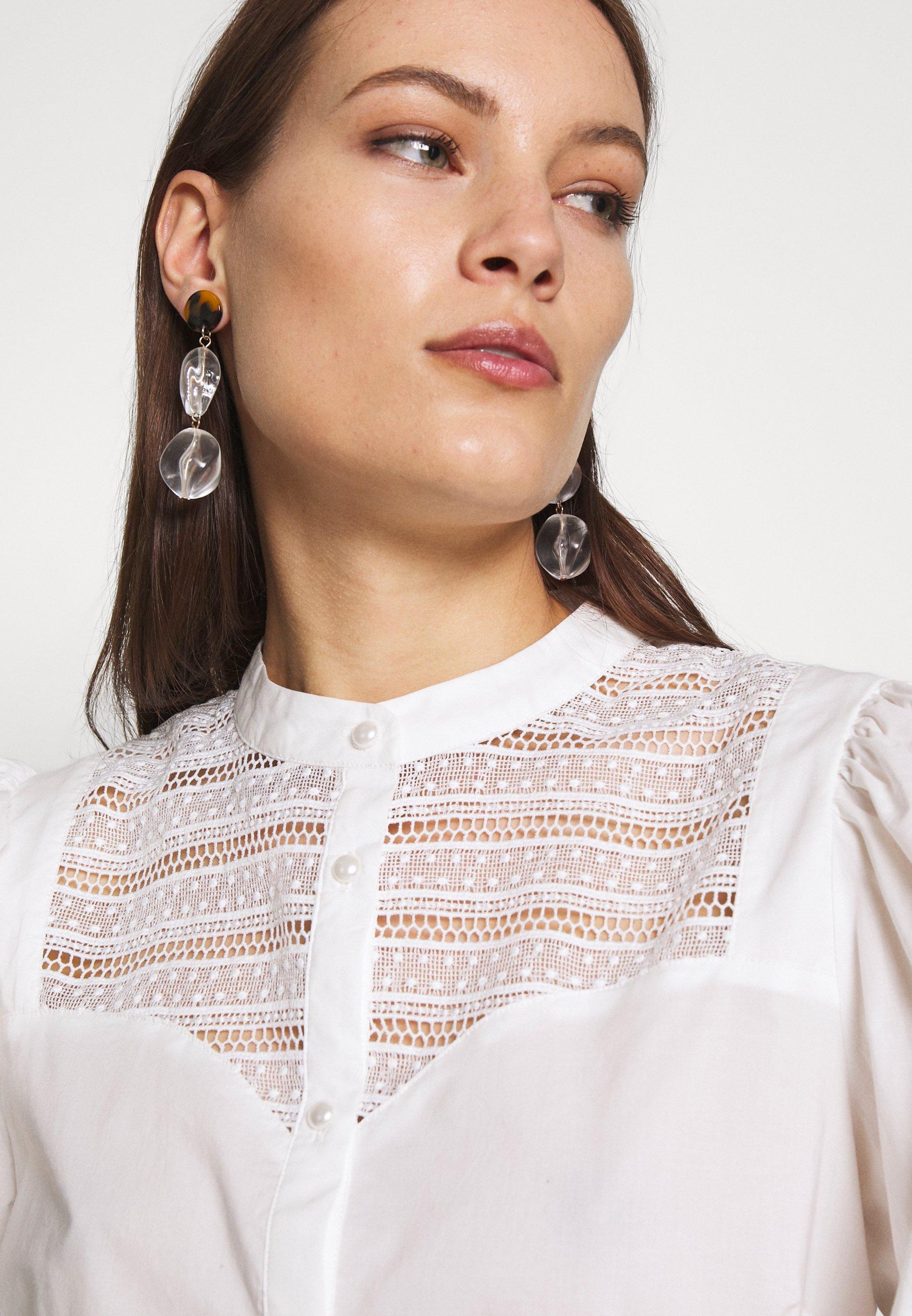 Custommade ELLENA - Koszula - whisper white