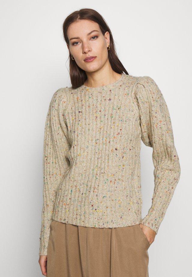 ALISA - Stickad tröja - cement
