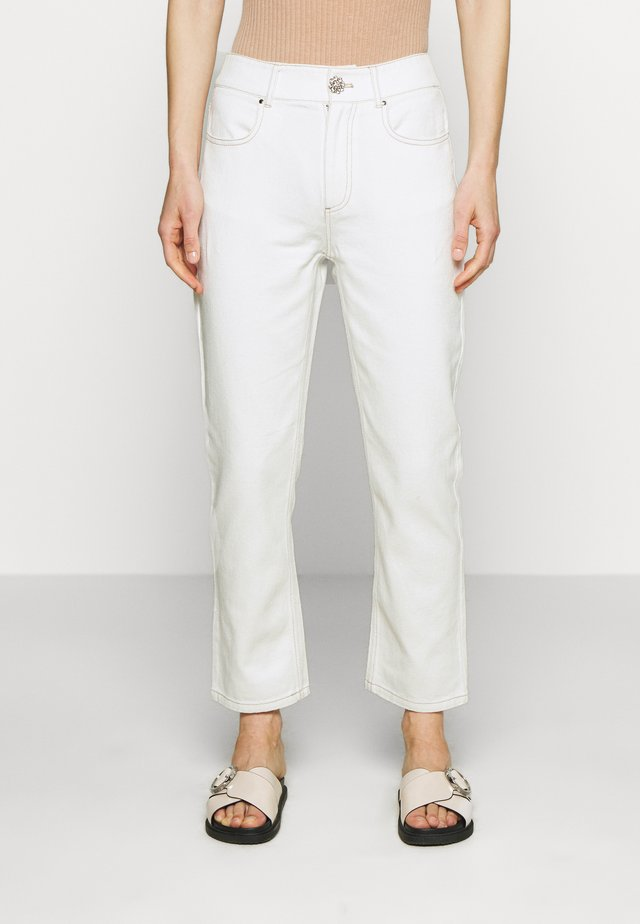 YUKI PANTS - Jeansy Straight Leg - whisper white