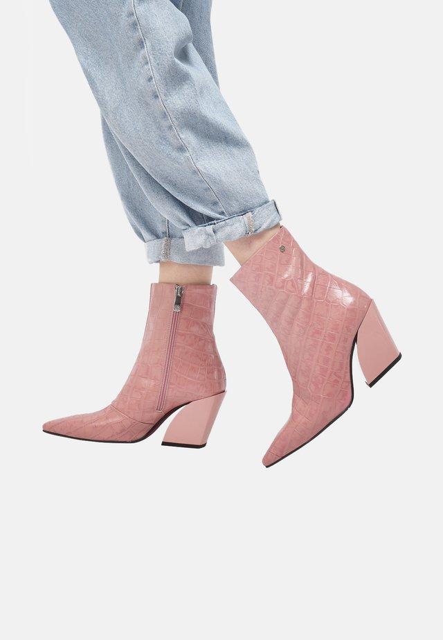 Bottines - old pink