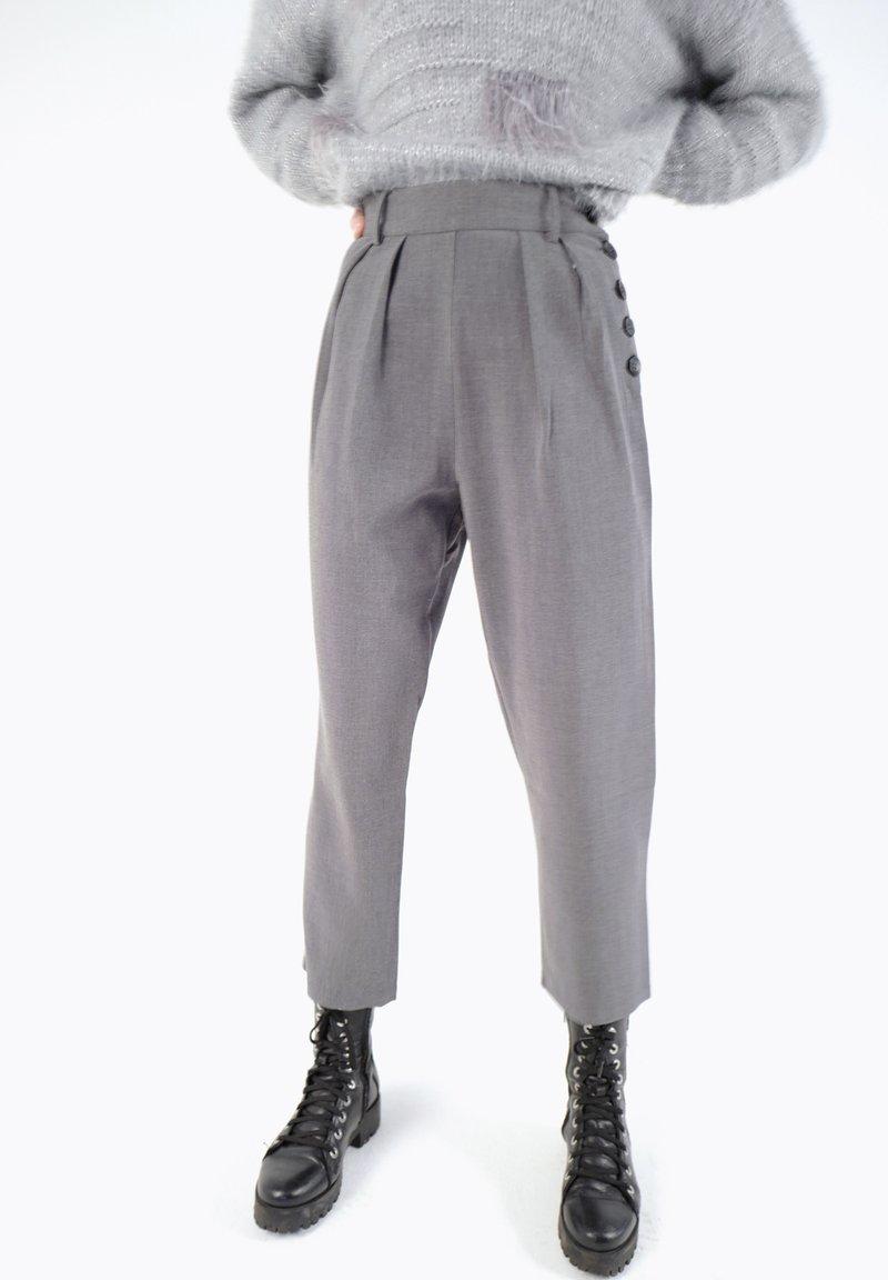 CUBIC - Pantalon classique - dark grey