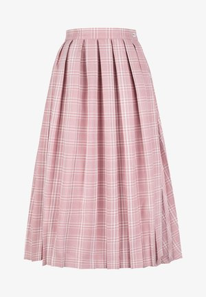 Jupe trapèze - pink tartan