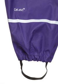 CeLaVi - RAINWEAR SUIT BASIC SET - Kalhoty do deště - purple - 4