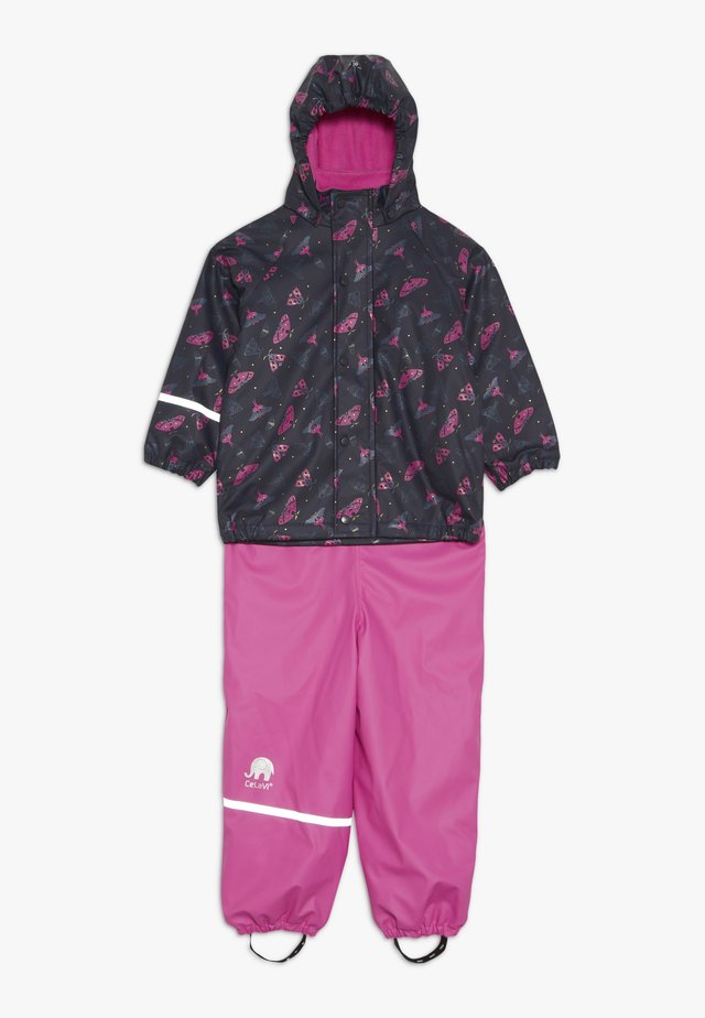 RAINWEAR SET - Rain trousers - real pink
