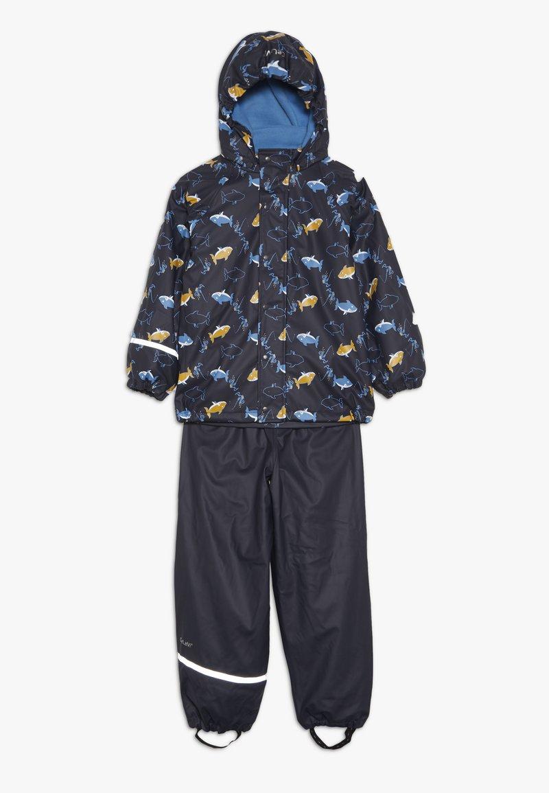 CeLaVi - RAINWEAR SET - Waterproof jacket - navy