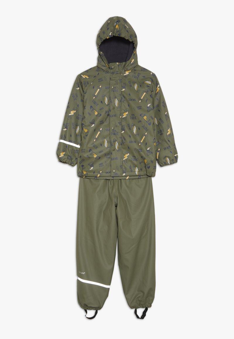CeLaVi - RAINWEAR SET - Waterproof jacket - army