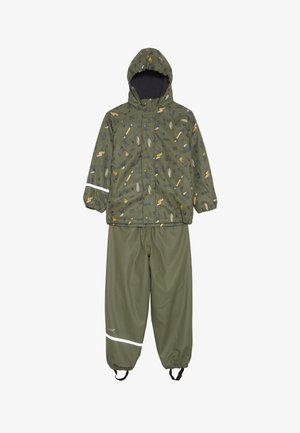 RAINWEAR SET - Pantaloni impermeabili - army