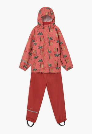 RAINWEAR SET  - Rain trousers - baked apple