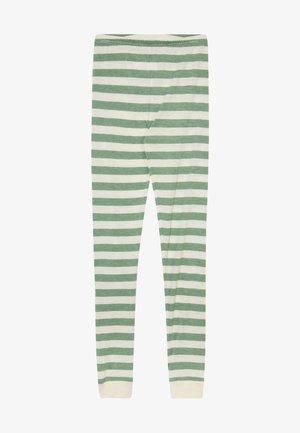 BAMBOO STRIPE - Leggings - elm green