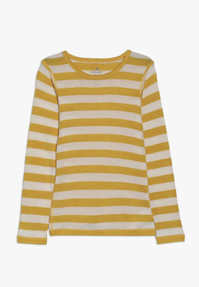 STRIPE - Långärmad tröja - mineral yellow