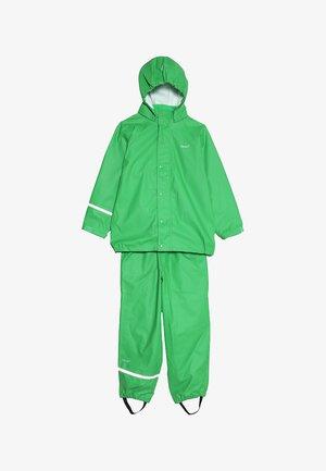 BASIC RAINWEAR SUIT SOLID - Rain trousers - green