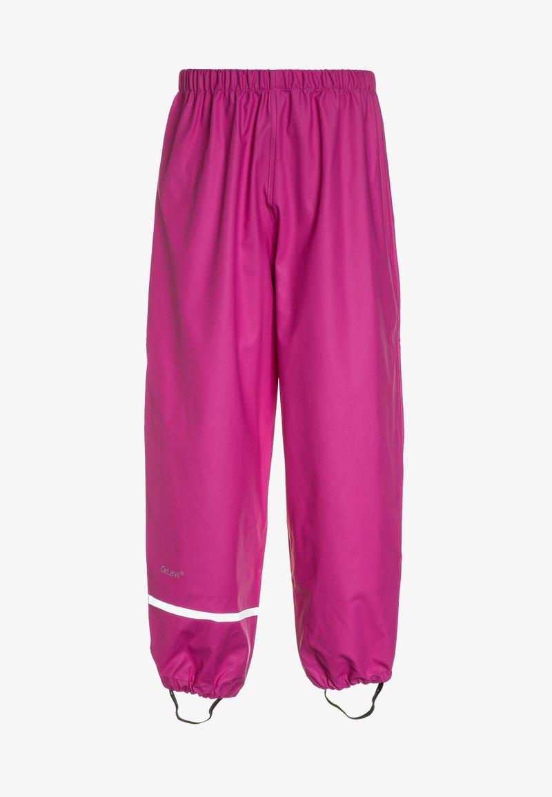 CeLaVi - RAINWEARPANTS SOLID - Pantaloni - real pink