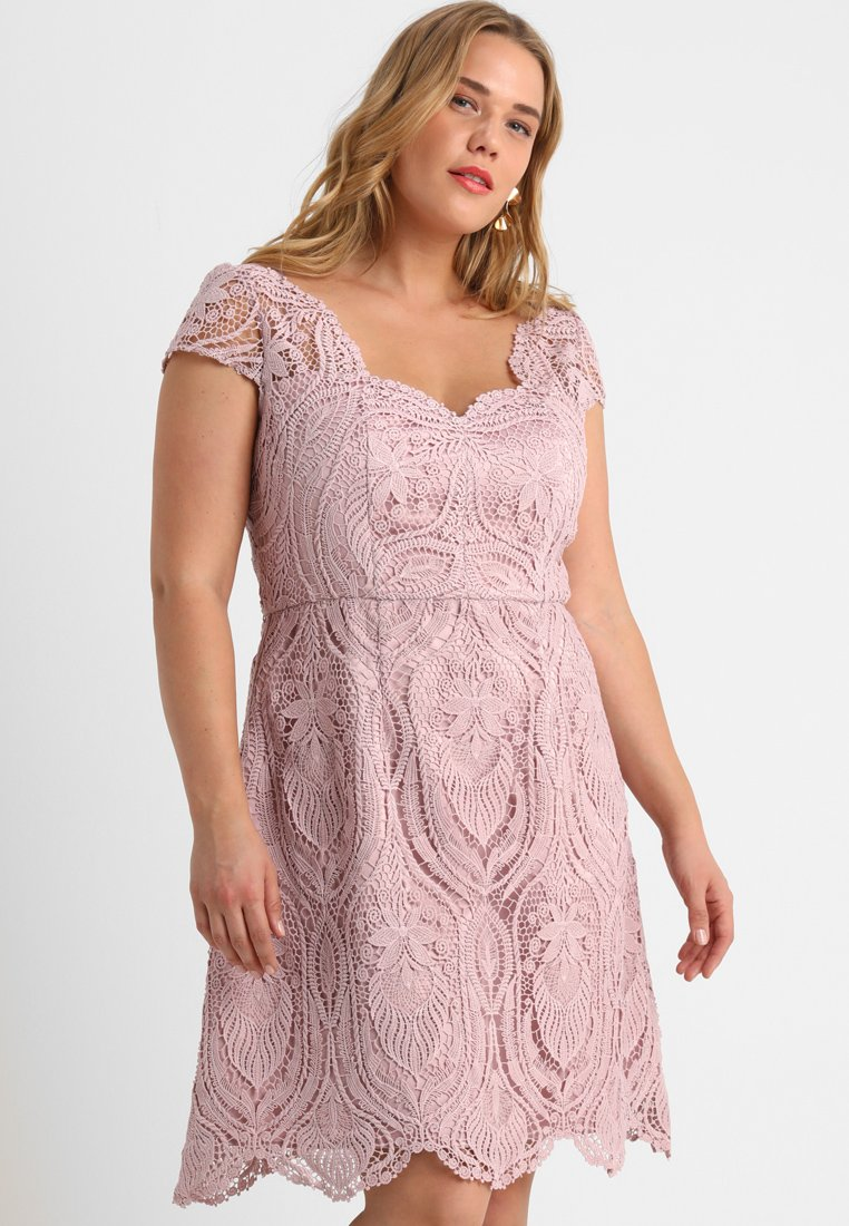 Chi Chi London Curvy - JAYNE - Day dress - mink