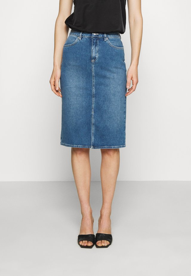 SKIRT CERINNE - Pencil skirt - denim blue