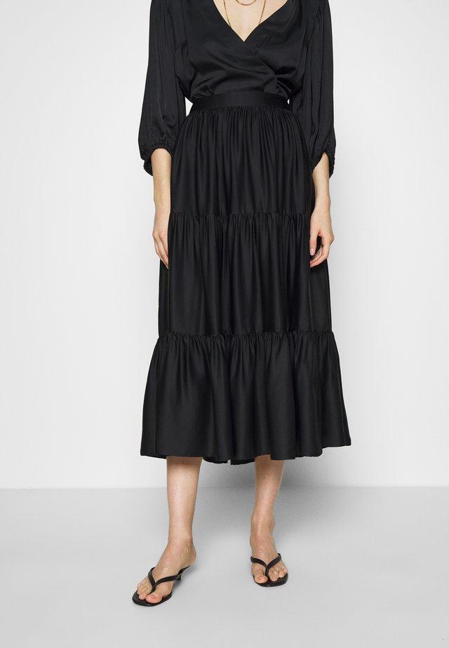SKIRT ELIZE - Áčková sukně - black
