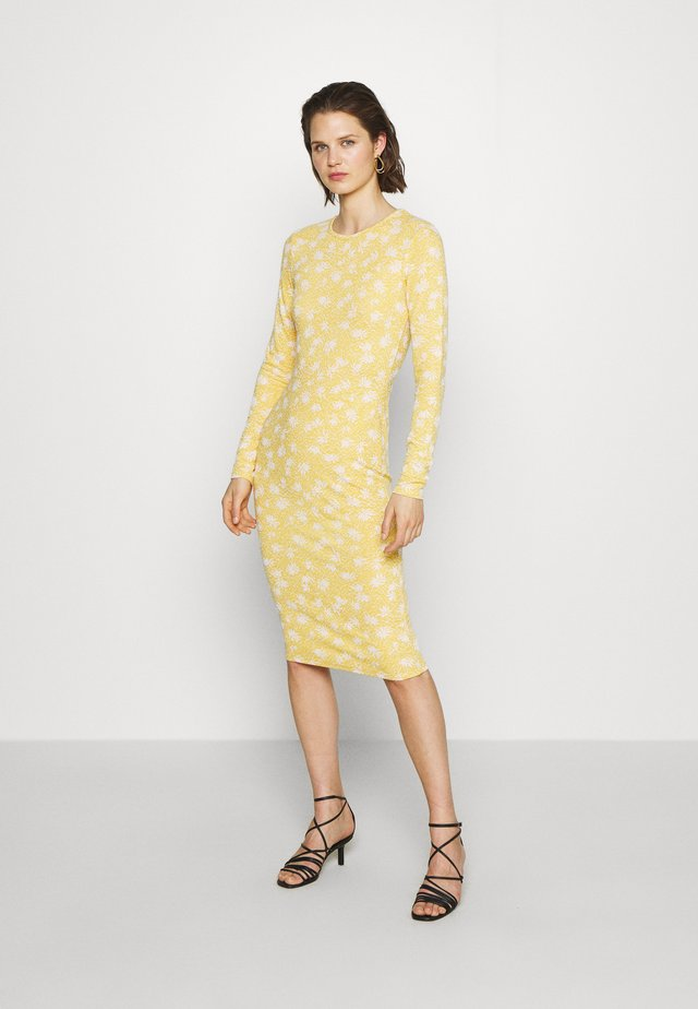 DRESS CAMMY - Sukienka etui - yellow