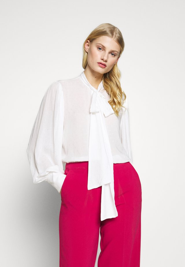 BLOUSE BODIL - Button-down blouse - white