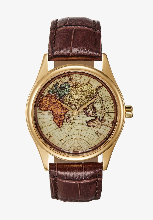 VINTAGE WORLD - Zegarek - gold-coloured/brown