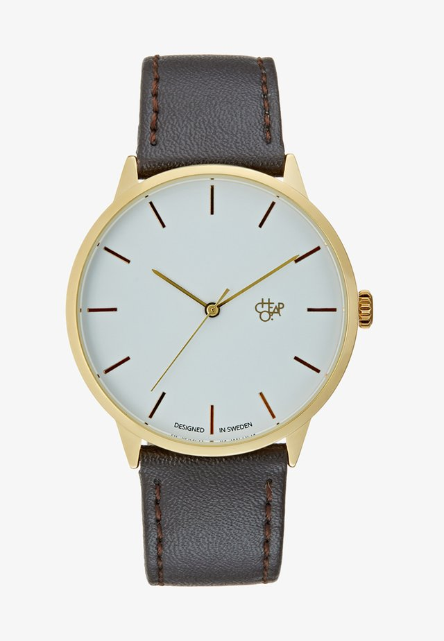 KHORSHID  - Watch - gold-coloured/dark brown