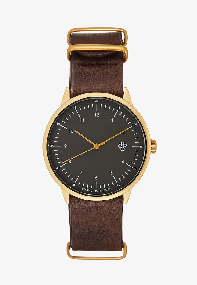 HAROLD LAKE - Watch - gunmetal/brown