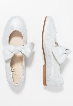 Ballerinasko m/ rem - bianche/plata