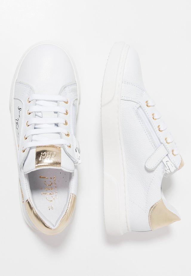 Sneakers basse - madras blanco/glitter fino platino