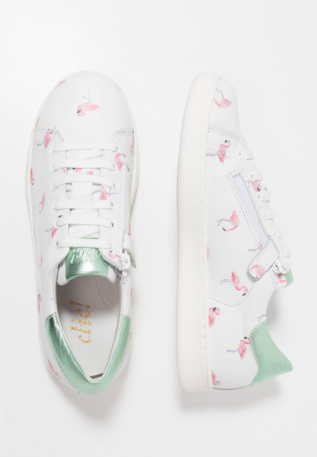 PRINT  - Tenisky - blanco/pink/silver green