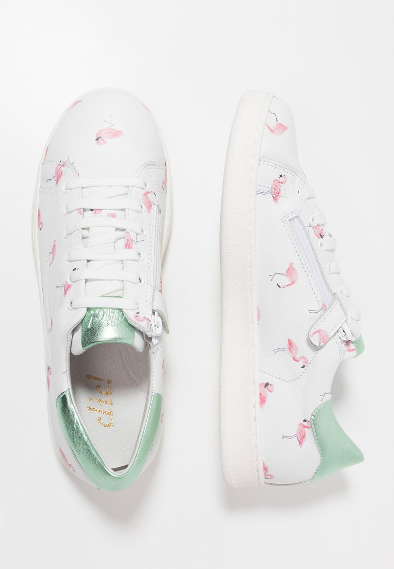 clic! - PRINT  - Trainers - blanco/pink/silver green