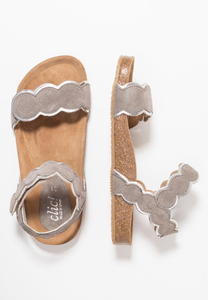 clic! - CORFU - Sandales - basket peltro/lamisin plata