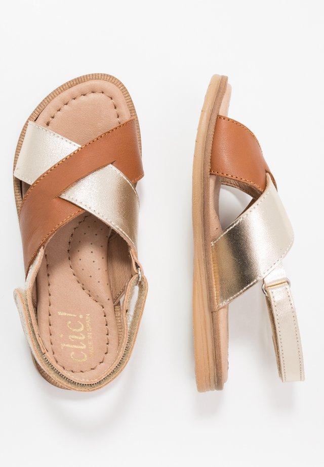 Sandaler - gold/camel