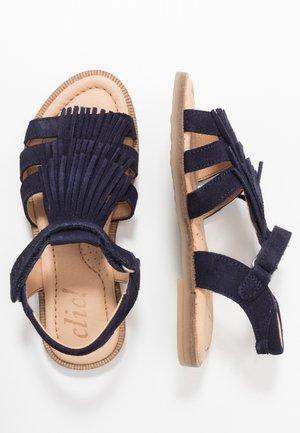Sandalias - afelpado azul