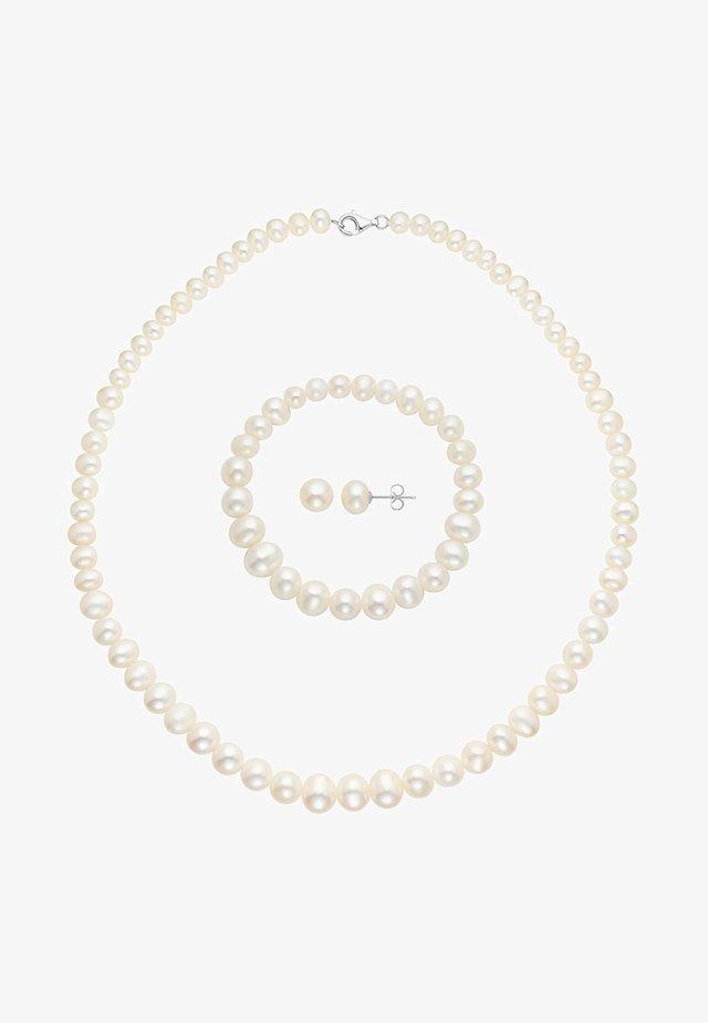SET - Ohrringe - white