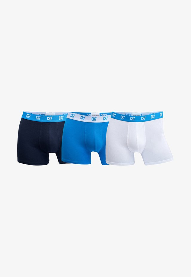 SEASONAL BASIC TRUNK 3 PACK - Underkläder - blue/dark blue/white