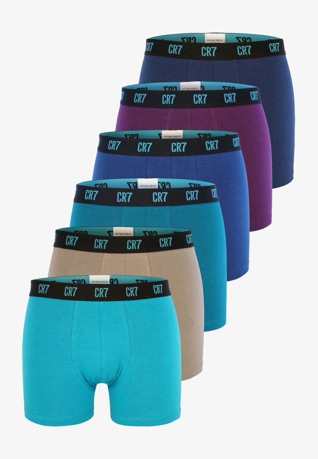 6 PACK TRUNKS - Underkläder - turquoise/violet
