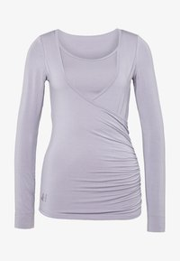 Curare Yogawear - Top sdlouhým rukávem - pearl grey - 3