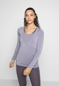 Curare Yogawear - Top sdlouhým rukávem - pearl grey - 0