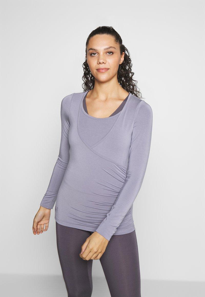 Curare Yogawear - Top sdlouhým rukávem - pearl grey